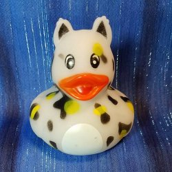 Zoo Animal White Cheetah Rubber Ducky