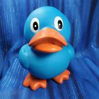 Blue Squeaky Rubber Duck