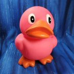 Pink Squeaky Rubber Duck