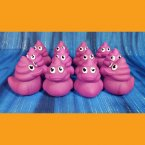 12 Purple Grape Poop Emoji Swirl Rubber Ducks