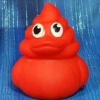 Cherry Red Poop Emoji Rubber Ducks