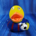 Soccer Futbol Rubber Duck - Blue and Red