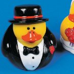 Wedding Groom / Magician / Formal with Top Hat Rubber Duck