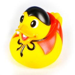 Bright Eyed Dracula Halloween Rubber Duck