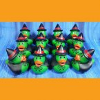 12 Bright Eyed Witch Halloween Rubber Ducks