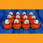 12 Bright Eyed Candy Corn Halloween Rubber Ducks