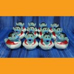 12 Pale Blue Vampire Halloween Rubber Ducks
