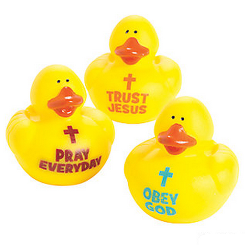 Trust Jesus, Obey God, Pray Everyday Rubber Ducks - Click Image to Close