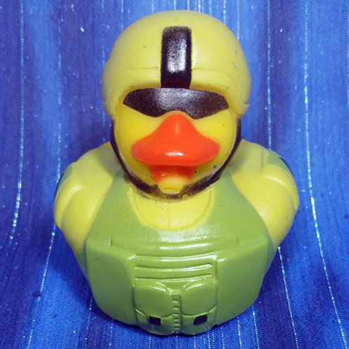 US Army Combat Ready Tactical Support Rubber Duck - Click Image to Close