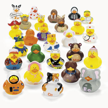 Alphabet Rubber Ducks