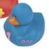 Blue Number 1 Rubber Duck