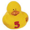 Yellow Number 5 Rubber Duck