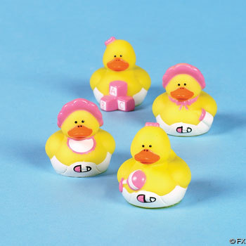 Mini Baby Girl Rubber Ducks