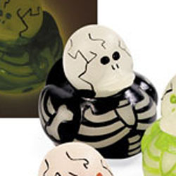Glow in the Dark Skeleton Black Rubber Duck