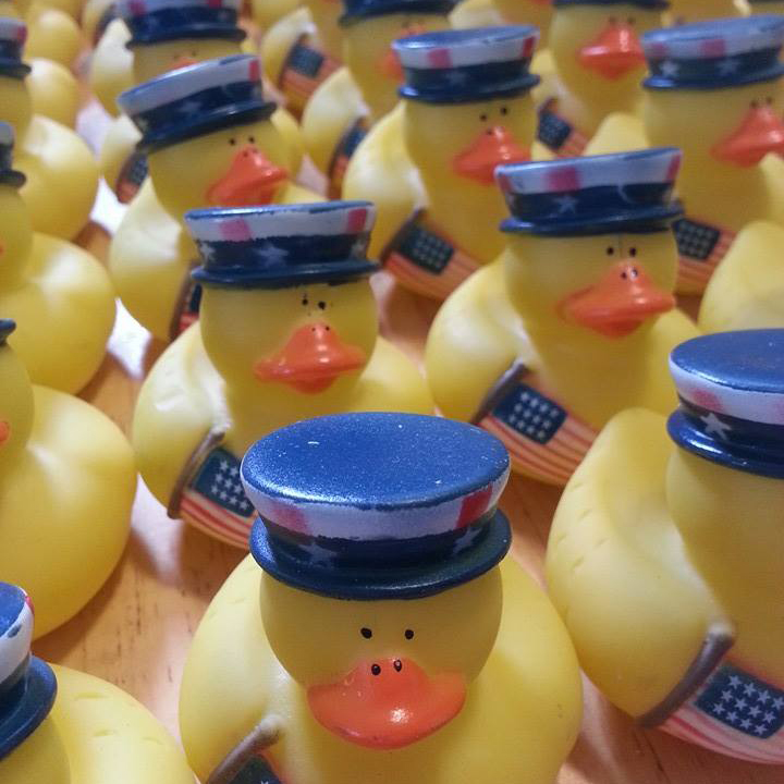 100 Uncle Sam Rubber Ducks