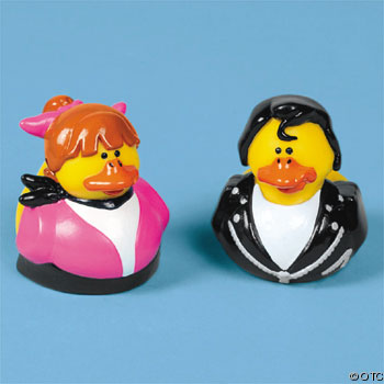 50s Elvis and Pinky Rubber Ducks