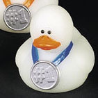 Glow In The Dark Blue Award Rubber Duck