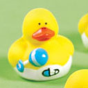 Mini Baby Boy Rubber Duck with Rattle