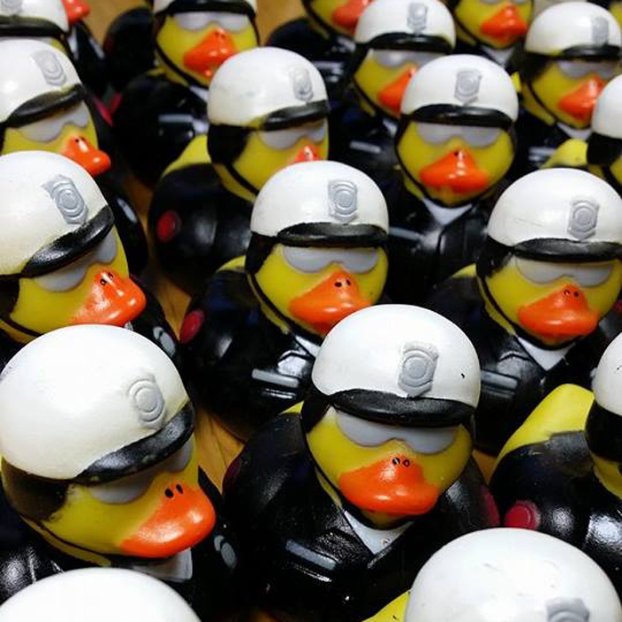 100 Law Enforcement Rubber Ducks - Motorcycle Cop