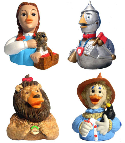 CelebriDucks - Wizard of Oz - Dorothy, Tin Man, Scarecrow, Lion